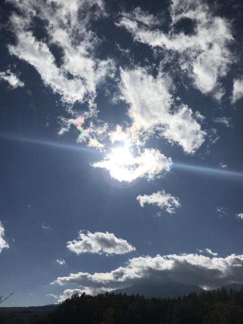 晴れていると美しい空が広がります