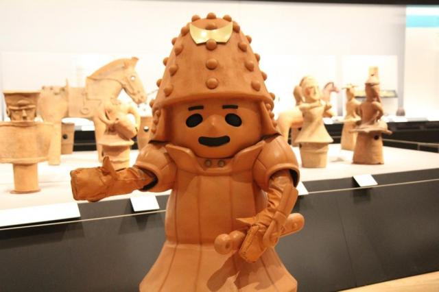 東京国立博物館総合文化展の埴輪のお友だちと、はに丸くん