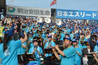 第97回大会で応援する花咲徳栄の吹奏楽部