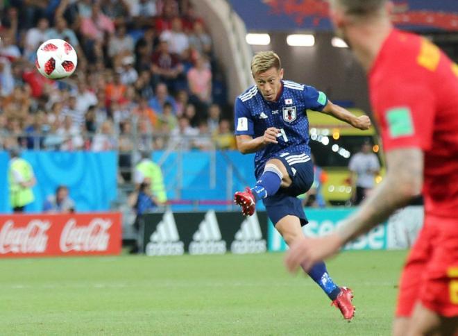 サッカーのワールドカップ(W杯)ロシア大会に出場した本田圭佑選手