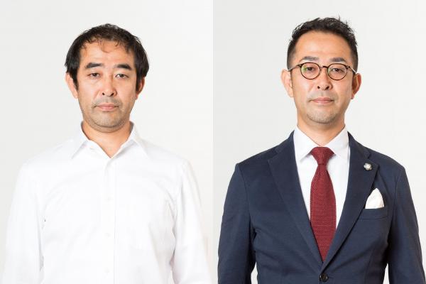 松本さんがコーディネートした顧客の1人。装いを変えるだけで、表情に自信があふれるようです。(久保佳正撮影、大阪府理容生活衛生同業組合青年部協力)