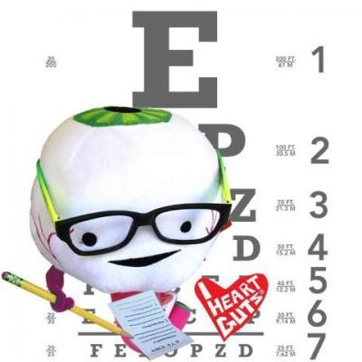 眼球にメガネをかけるとこんな感じ
