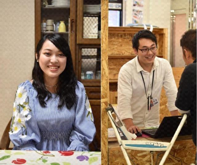 20歳になった朝田愛梨さん(左)と原田健君(右)