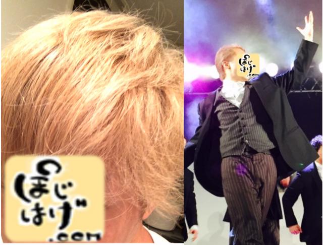 髪を金色に染め、ステージ上で踊るぽじはげぶっださん