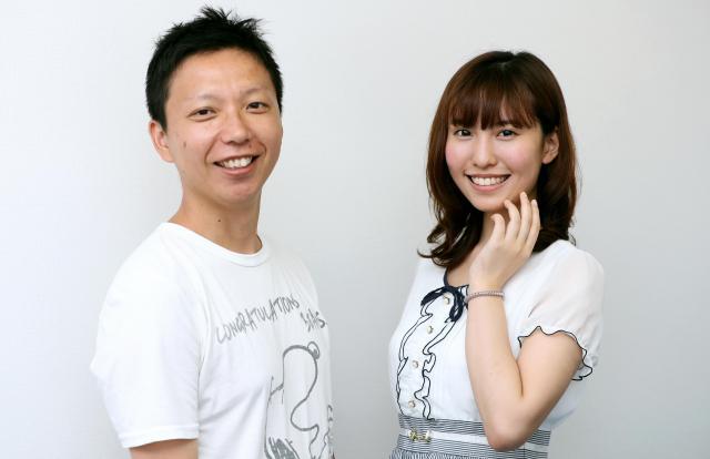 内藤瑛亮さん(左)と春名風花さん=池永牧子撮影