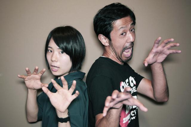 映画「カメラを止めるな!」に出演の真魚さん(左)と濱津隆之さん(右)