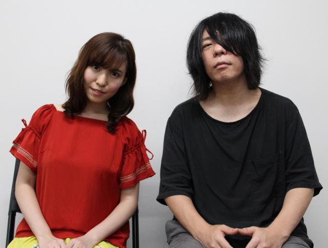 春名風花さん(左)と篠塚将行さん