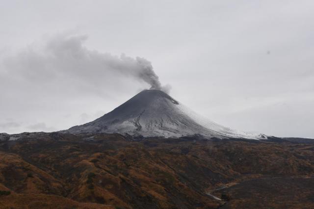 カムチャッカの雄大な火山