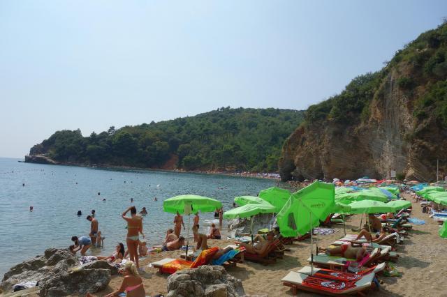 ブドヴァのビーチ