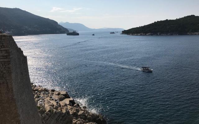ドブロブニクから見ることのできるアドリア海