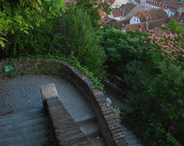 城山の階段