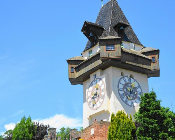 オーストリア・グラーツの時計塔