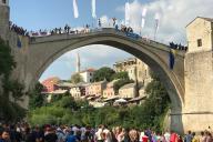 ボスニア・ヘルツェゴビナのモスタルにある世界遺産「スタリ・モスト」