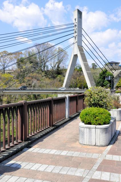 「あの花」の登場人物がいる橋のモデルになった旧秩父橋。奥に見えるのは秩父橋=埼玉県秩父市