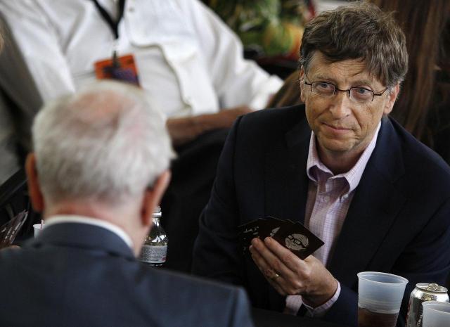 マイクロソフト創業者、ビル・ゲイツもブリッジの愛好家だとか