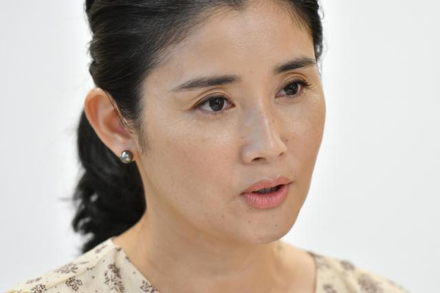 俳優の石田ひかりさん=仙波理撮影