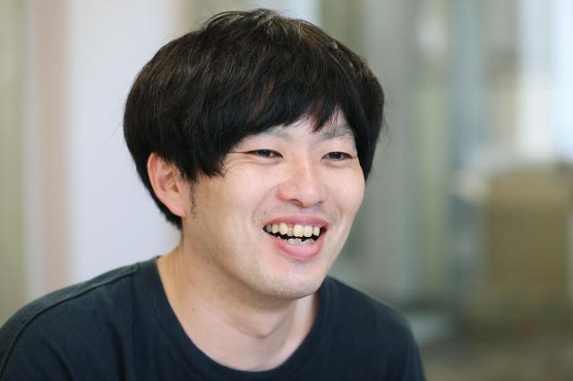 お笑いトリオ「グランジ」の遠山大輔さん=東京都新宿区、池永牧子撮影