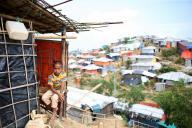 バングラデシュ南東部、コックスバザール郊外に広がるロヒンギャ難民キャンプ。約90万人のロヒンギャがここで暮らしている=2018年8月