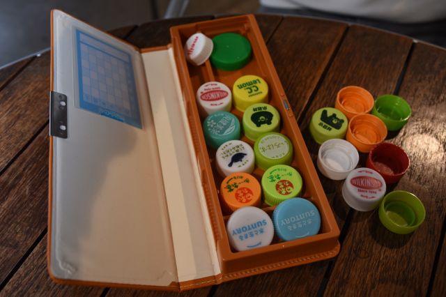 筆箱にしまわれている「一軍キャップ」