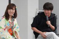 対談した村本大輔さん(右)と春名風花さん=瀬戸口翼撮影