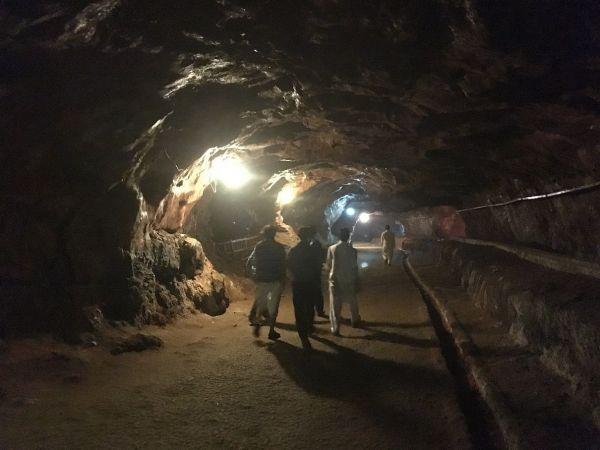 ケウラ岩塩鉱山の坑道