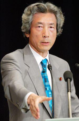 2003年に自民党総裁選の所見発表演説会で演説する小泉純一郎首相=同年9月、党本部