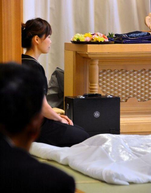 納棺の儀式前