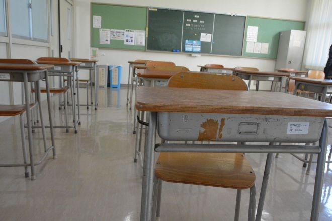 定時制高校の教室