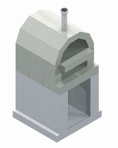 墓石を取り扱う会社が販売している「ピザ窯」。こちらは2段式