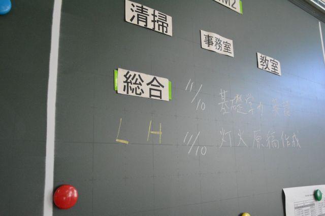 高校の黒板