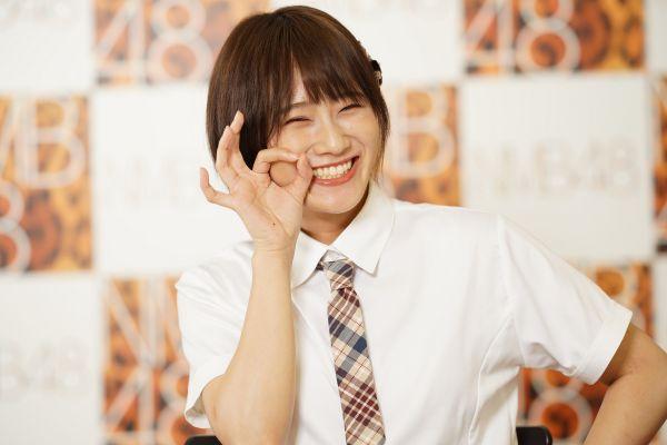 NMB48の城恵理子さん。朝日新聞「NMB48のザ・ジャッジ!」では、メンバーが「こんなのってあり? なし?」「許せる? 許せない?」など、身の回りのお悩みや迷いについて、「ジャッジ」をします。