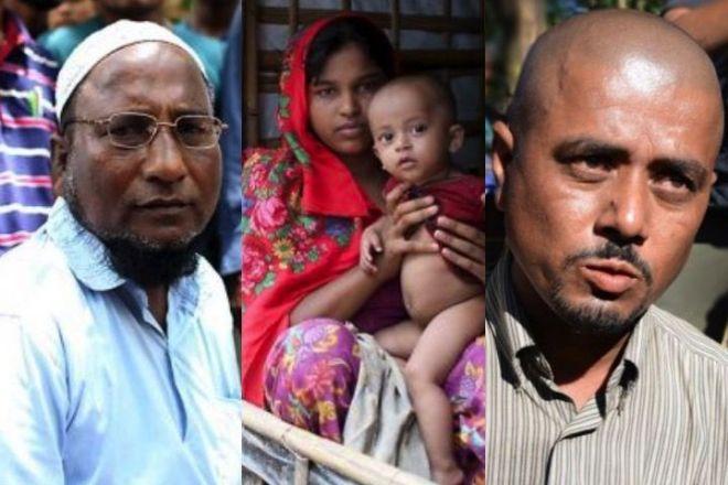話を聞いたロヒンギャ難民の人たち