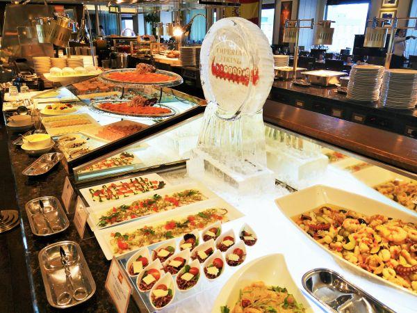 食べ過ぎると「せこく」なりそう=東京都千代田区の帝国ホテル