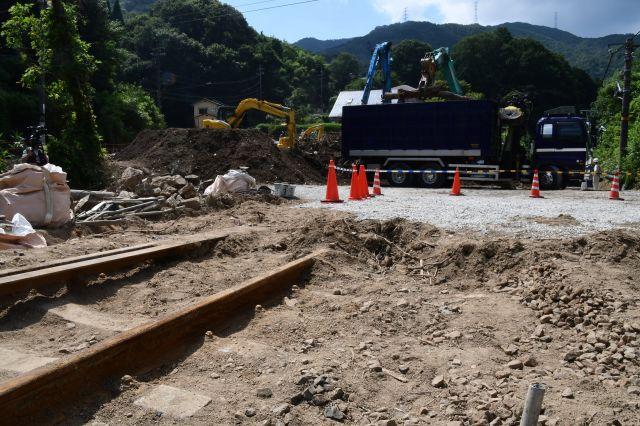 「セノハチ」区間の工事現場