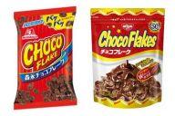 左が森永製菓、右が日清シスコのチョコフレークです