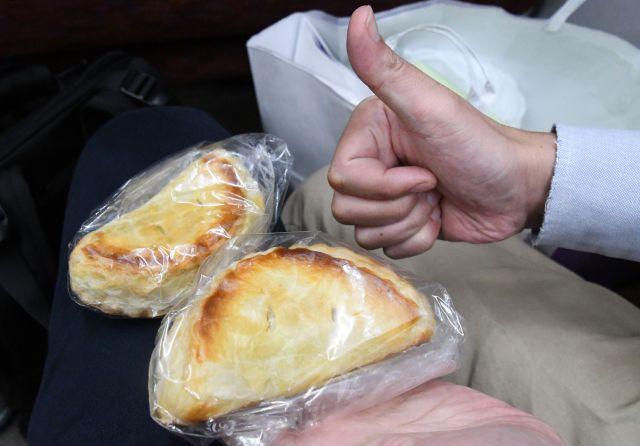 西条行きに乗りアップルパイを食べる
