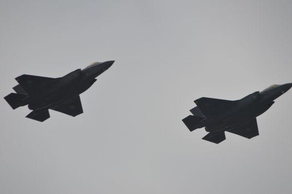 「観閲飛行」に空自の最新鋭戦闘機F35が初登場した。