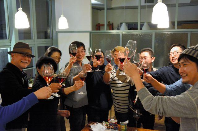 ヌーボーと水戸ワインに舌鼓