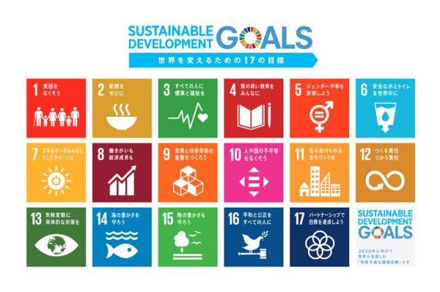 SDGsでは17の目標をカラーで分類している