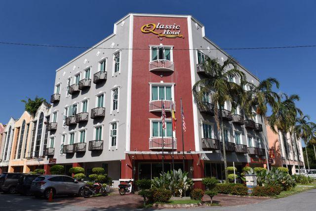 フォンが事件前に泊まっていたマレーシアの空港近くのホテル=乗京真知撮影