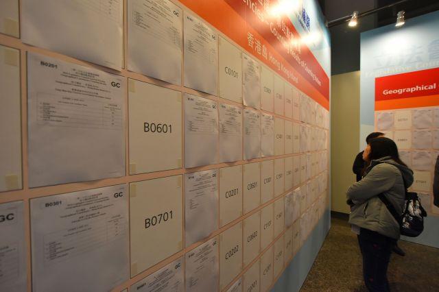 立法会補欠選挙の開票所=3月12日、香港、益満雄一郎撮影