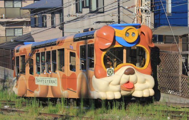 開業100周年を迎えた「生駒ケーブル」の「ブル」=2018年8月29日、奈良県生駒市