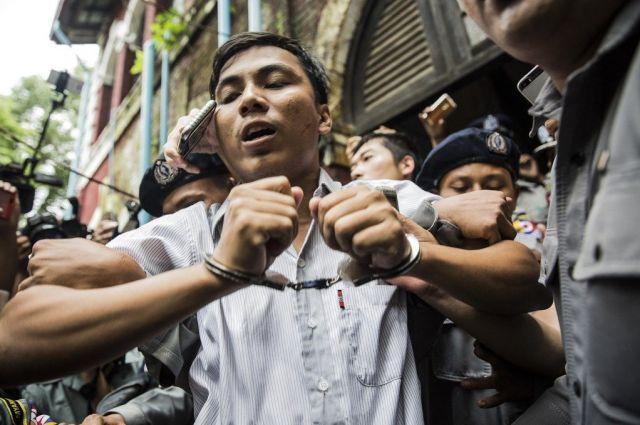 ワローン氏とともにロヒンギャ殺害事件を取材していたチョーソーウー記者。拘束期間はすでに300日を超えている=2018年9月、ミャンマー・ヤンゴン