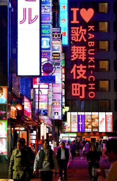 よく通ったという東京・歌舞伎町