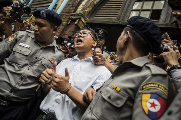「国家機密法違反」の罪で実刑判決を受けた、ロイター通信のワローン記者