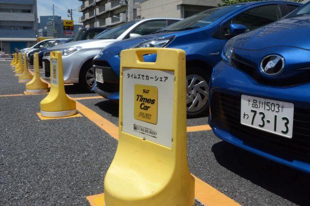 日本でも広まる「カーシェアリング」=2018年6月、東京都中央区