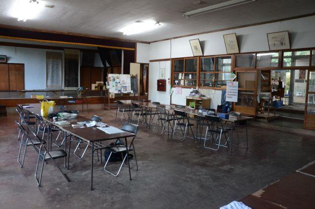 新しき村の「公会堂」=2018年10月