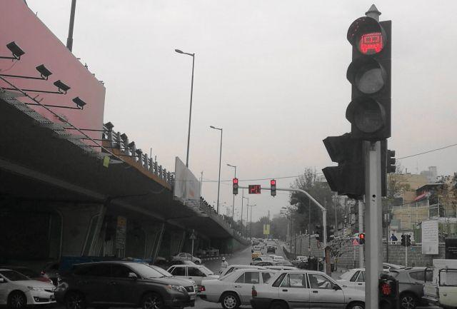 イラン・テヘランの信号機