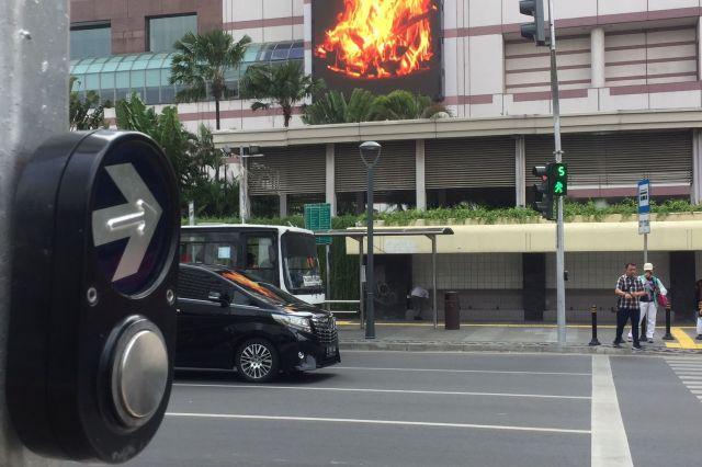 ジャカルタの信号機