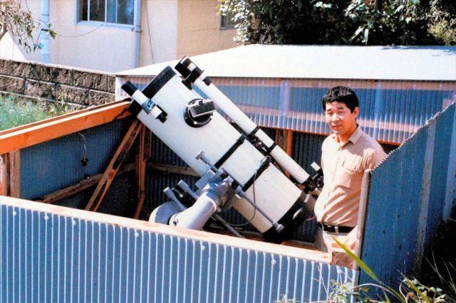 小惑星を探していた30代の岩本さん=本人提供